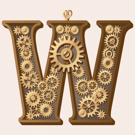 Mechanical alphabet Stock Vector - 13806386