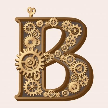 herramientas de mecánica: Alfabeto mecánico Vectores