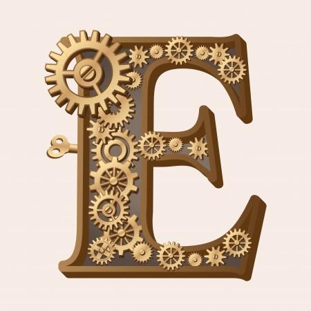 Mechanische Alphabet Illustration