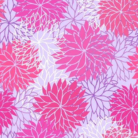 crisantemos: Patr�n floral sin fisuras Vectores