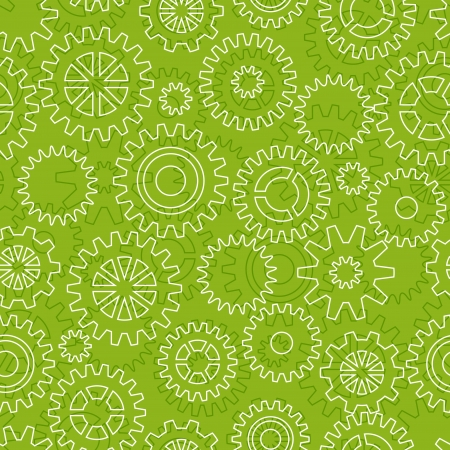 Seamless pattern with gears Vector