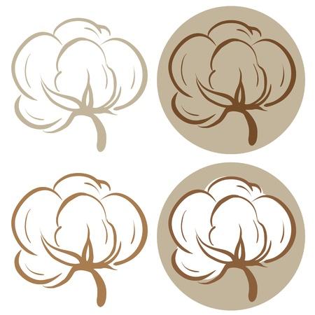 Iconos de algodón Ilustración de vector