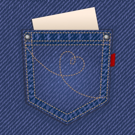 blue jeans: Jeans pocket Illustration