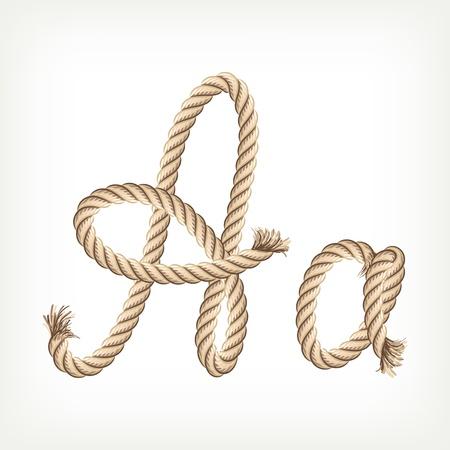 Rope Alphabet. Buchstabe A