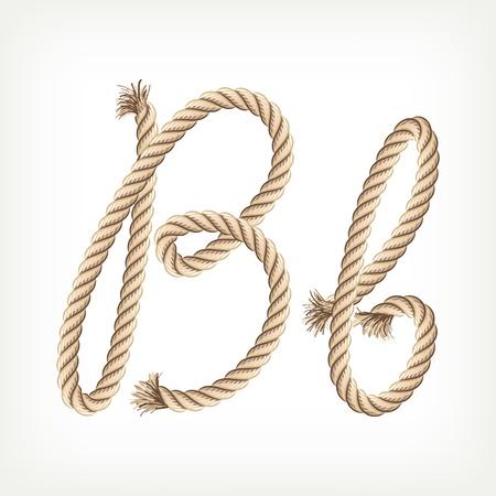Rope Alphabet. Buchstabe B