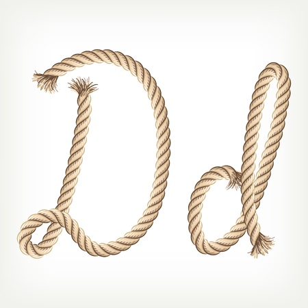 letter d: Rope alphabet. Letter D