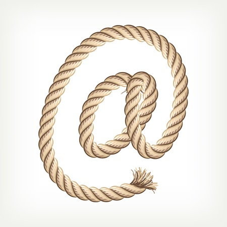 Rope e-mail Vector