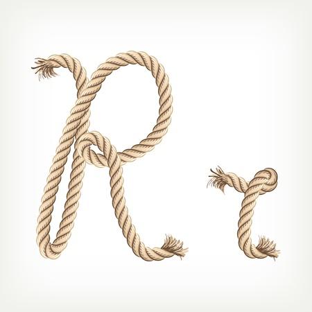 Rope Alphabet. Buchstabe R