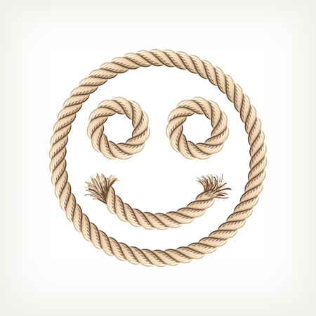 the noose: Rope smiley Illustration