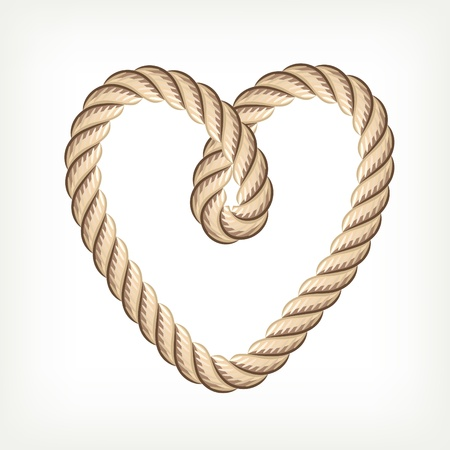 rope knot: Rope heart Illustration