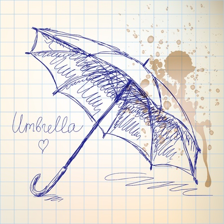 Umbrella sketch Vector