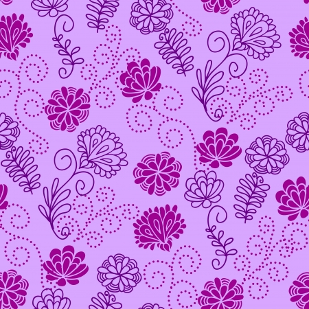 Seamless floral pattern with a cute violet flowers Vector