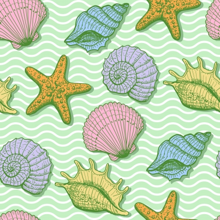 Main mer �tabli seamless pattern