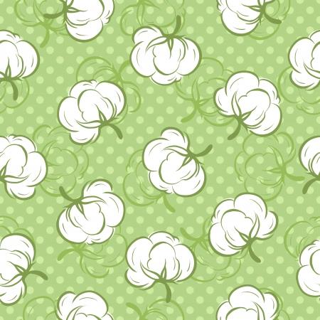organic cotton: Seamless pattern con bastoncini di cotone