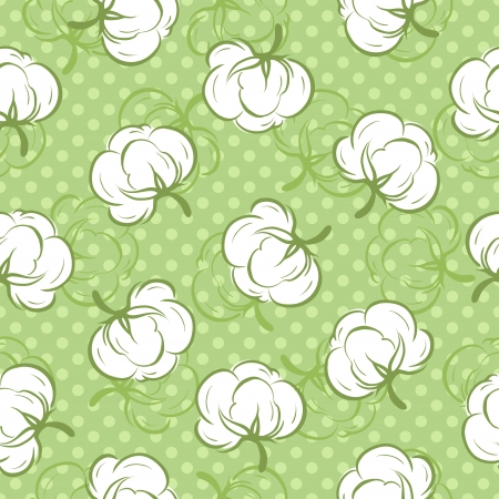 cotton ball: Seamless pattern with cotton buds
