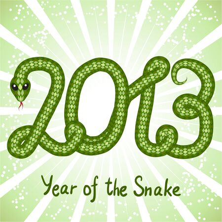 Cute snake  symbol of 2013 year  Stock Vector - 15813069