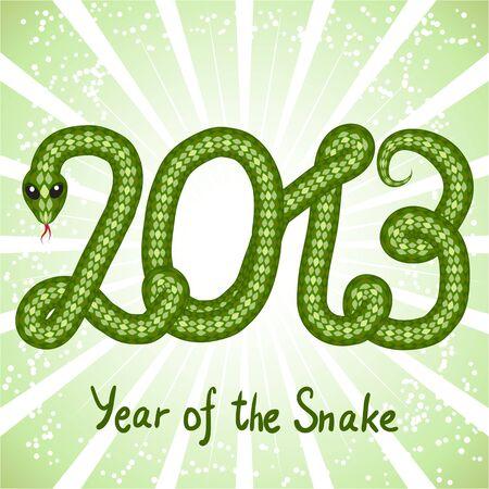 Cute snake  symbol of 2013 year Stock Vector - 15813069