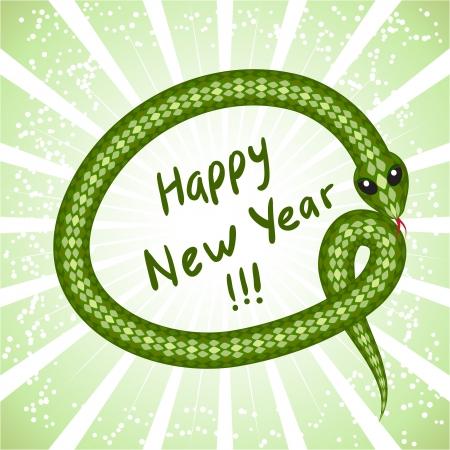 Nette Schlange Symbol der 2013 Jahre