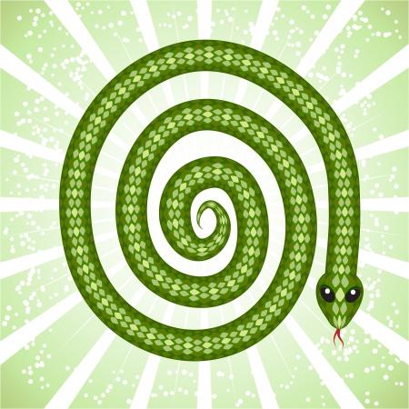 Cute snake  symbol of 2013 year Stock Vector - 15813063
