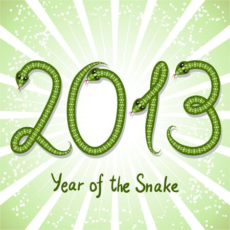 Cute snake  symbol of 2013 year Stock Vector - 15813070