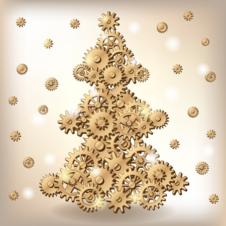Mechanical Christmas tree
