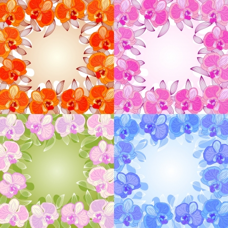 orchid frame Stock Vector - 16427728