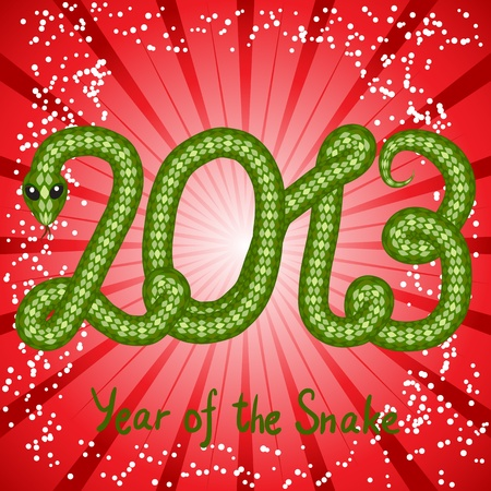 snake symbol: Cute snake  symbol of 2013 year