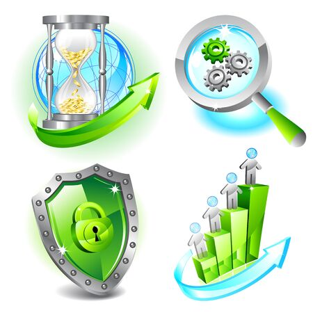 Business icons set Stock Vector - 16555542