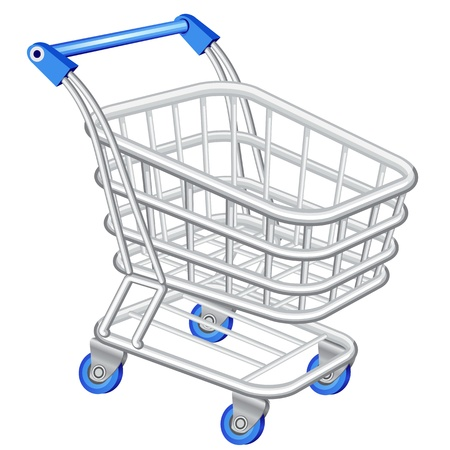 chrome cart: Shopping cart