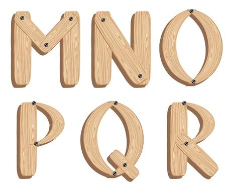 woodwork: Wooden alphabet