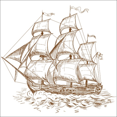navire: Voilier Vintage
