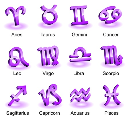 Horoscope  star signs Vector