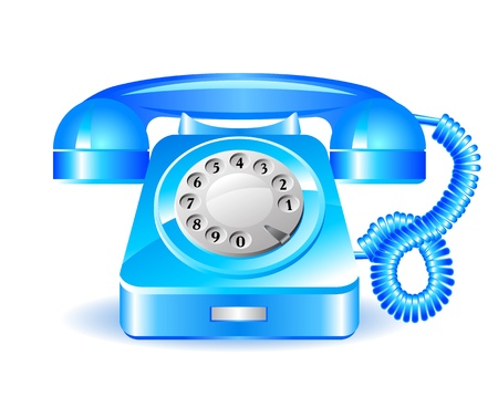 Retro blue telephone Stock Vector - 19117037