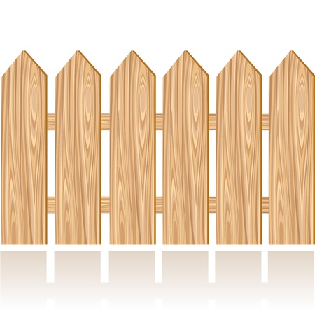 wooden fence: Wooden fence