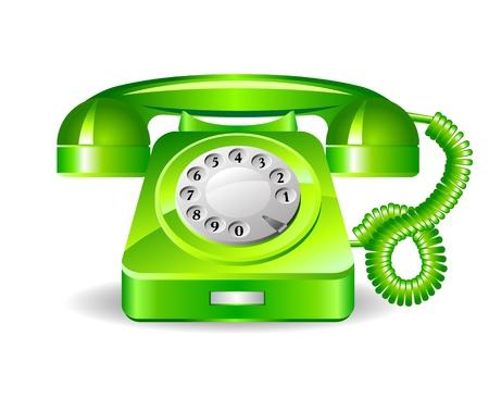 bakelite: Retro green telephone