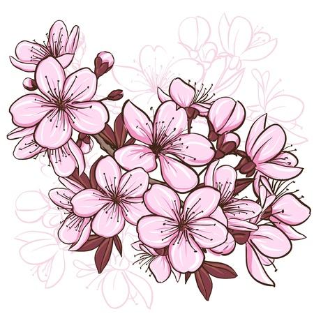 japanese pattern: Cherry blossom