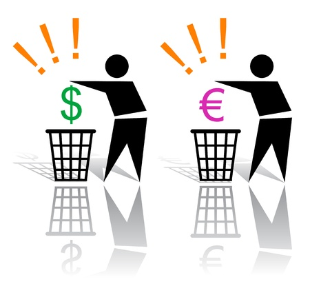 consummation: Recycling signs and money