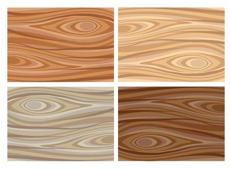 tree bark: Set of wooden textures
