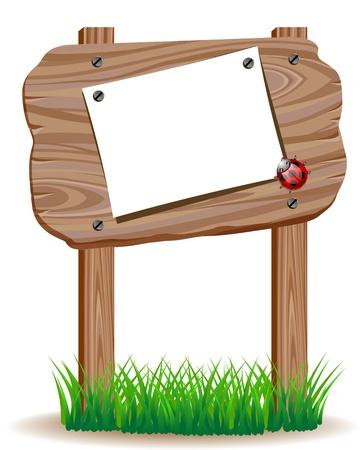 Wooden signboard Stock Vector - 19828777
