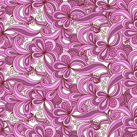 Seamless abstract hand drawn pattern in pink colors Vector