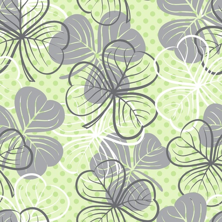 Seamless floral pattern with three leaf clover Stock Vector - 21526906