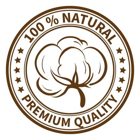 綿絮本文 100% 自然、優れた品質とスタンプします。