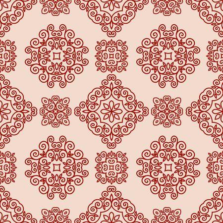 mono: Ornamental decorative seamless lace pattern in mono line style