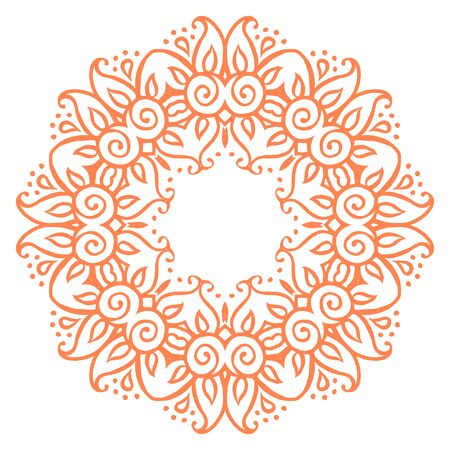 decorative element: Floral ornamental ethnic decorative element