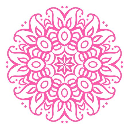 tribal: Floral ornamental ethnic decorative element