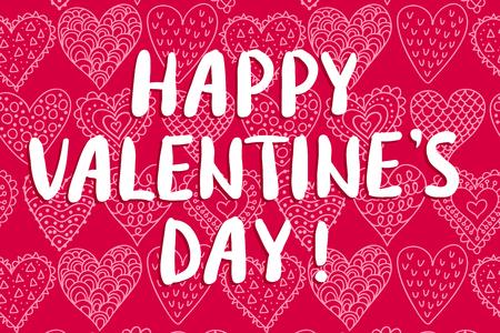Valentinstag Grußkarte Standard-Bild - 93403358