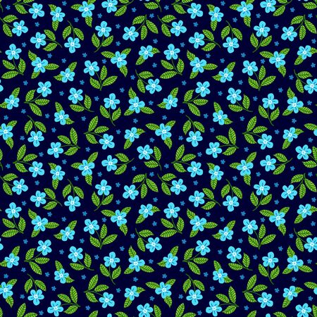 Seamless pattern with decorative floral background vector illustration