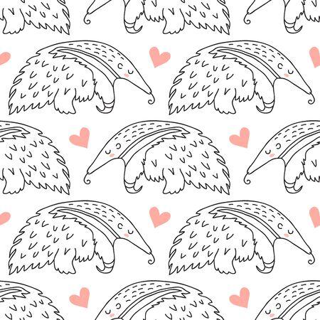 Cute sleeping anteater