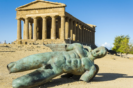 Temple of Concordia, Valley of the Temples, Agrigento, Sicily Stock Photo