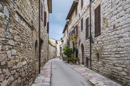 assisi: Street in Assisi, Umbria region, Italy